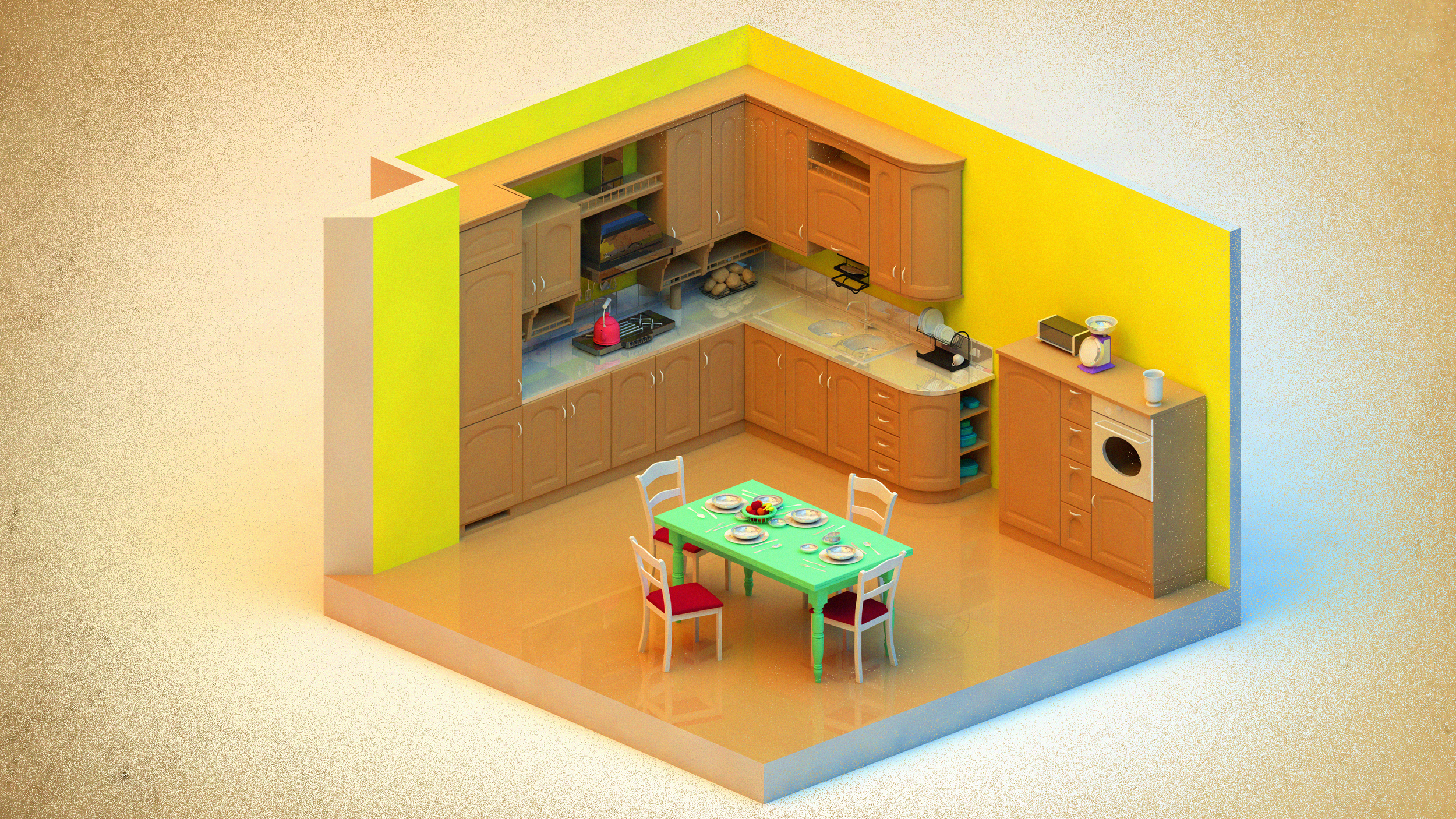 Kitchen w/ AR