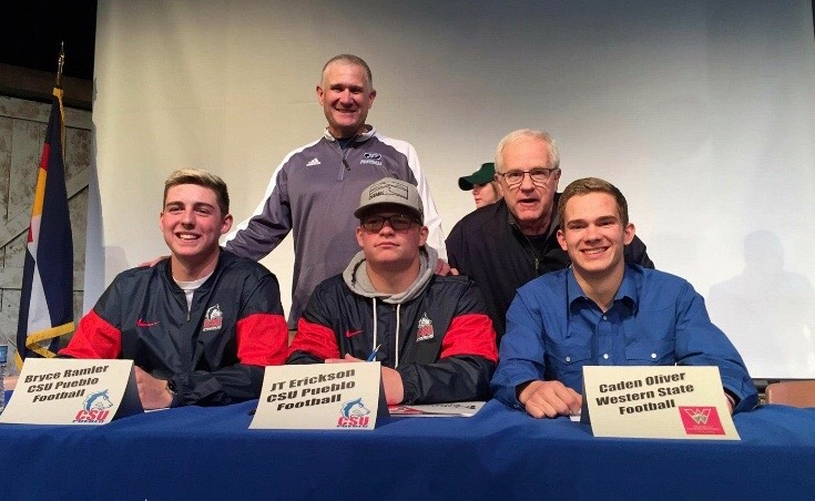Congratulations to our Class of 2018 Recruits: Bryce Ramler (CSU Pueblo) JT Erickson (CSU Pueblo) & Caden Oliver (Western State). Look for big things over the coming years from these 3 guys