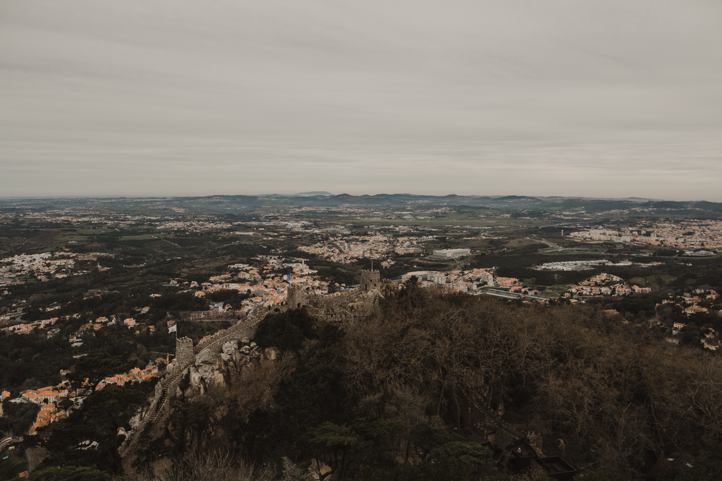The view of the Moorish Castle from Palace de Pena