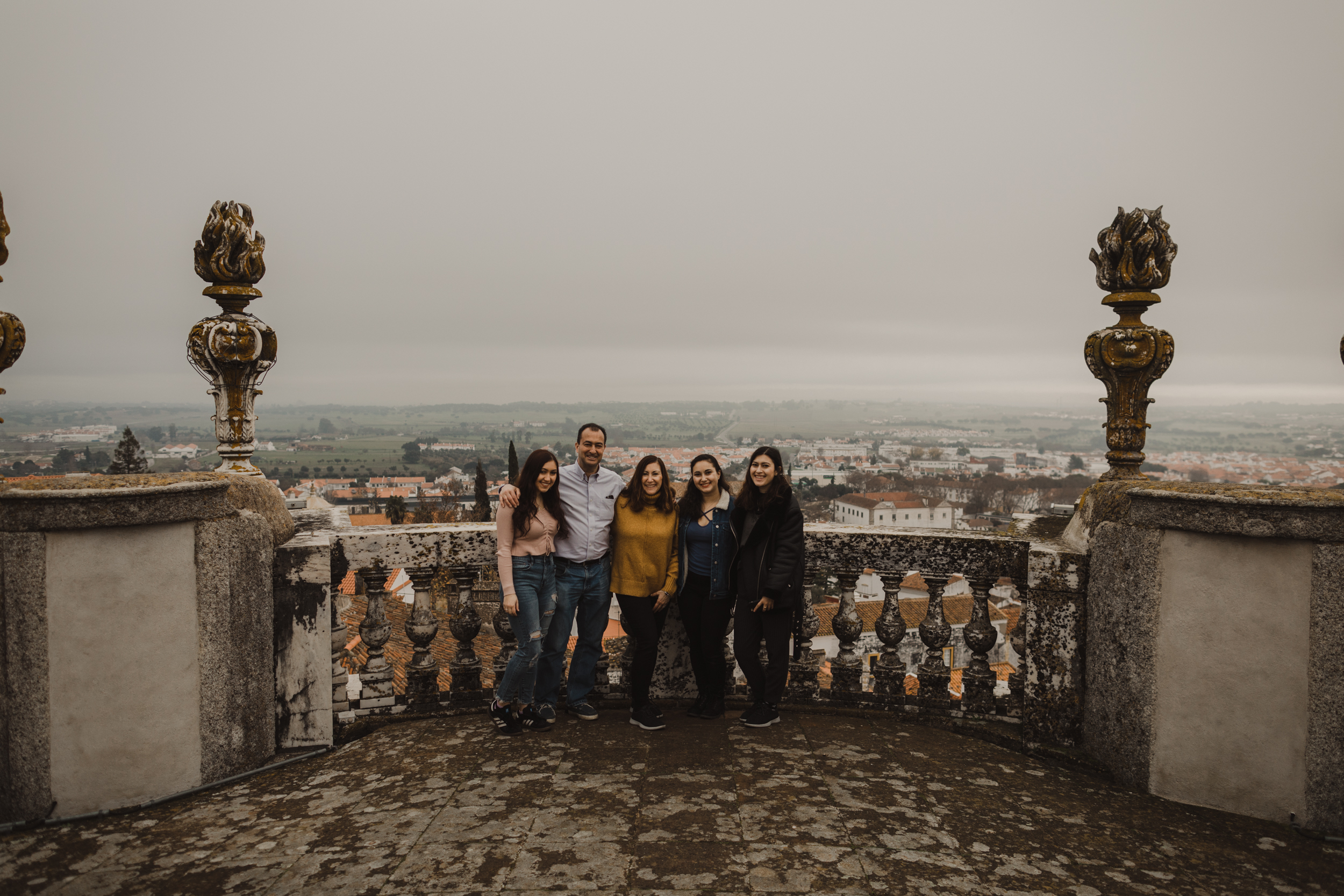 The family at Evora Cathedral