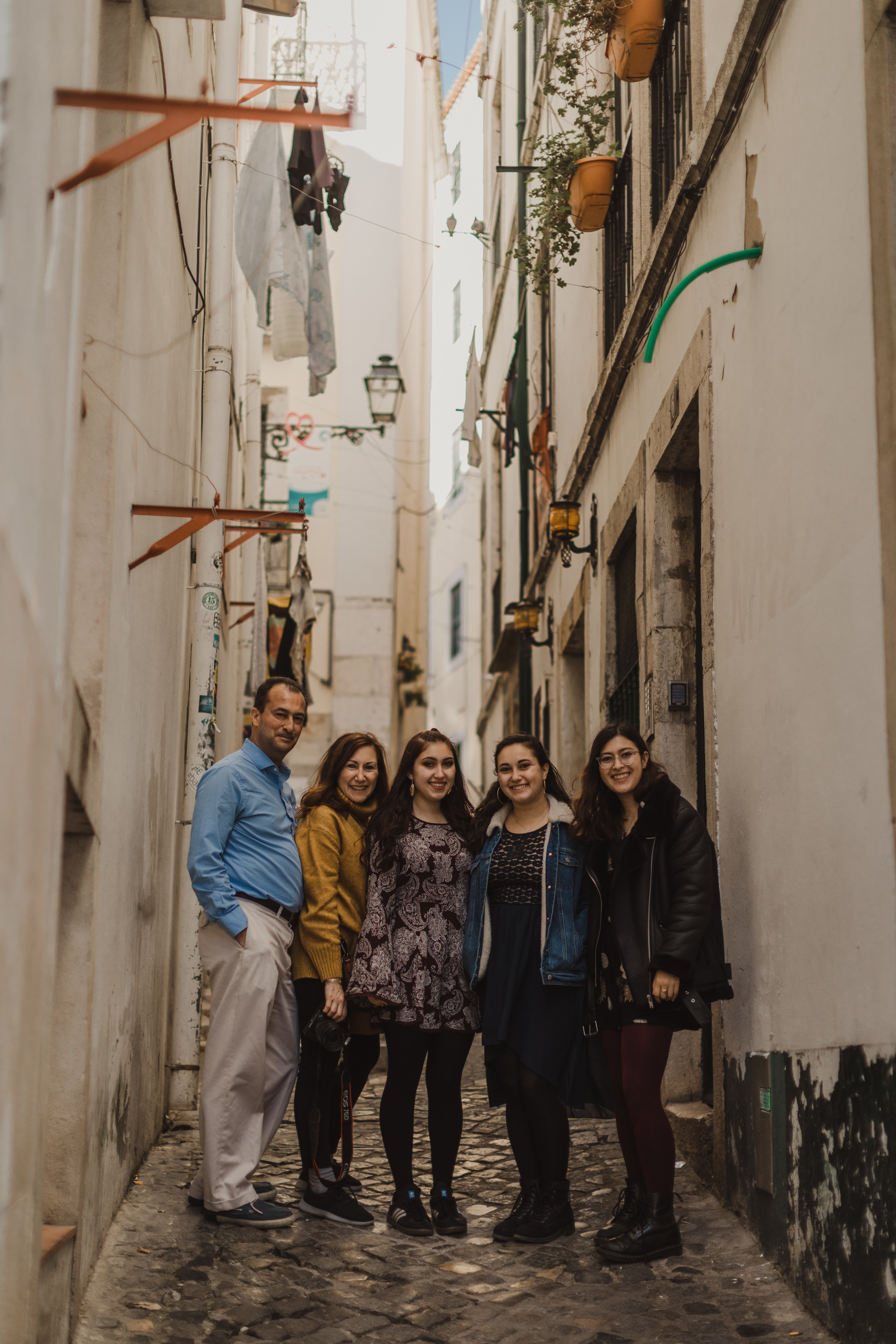 Another family photo, this time in the little streets of Alfama
