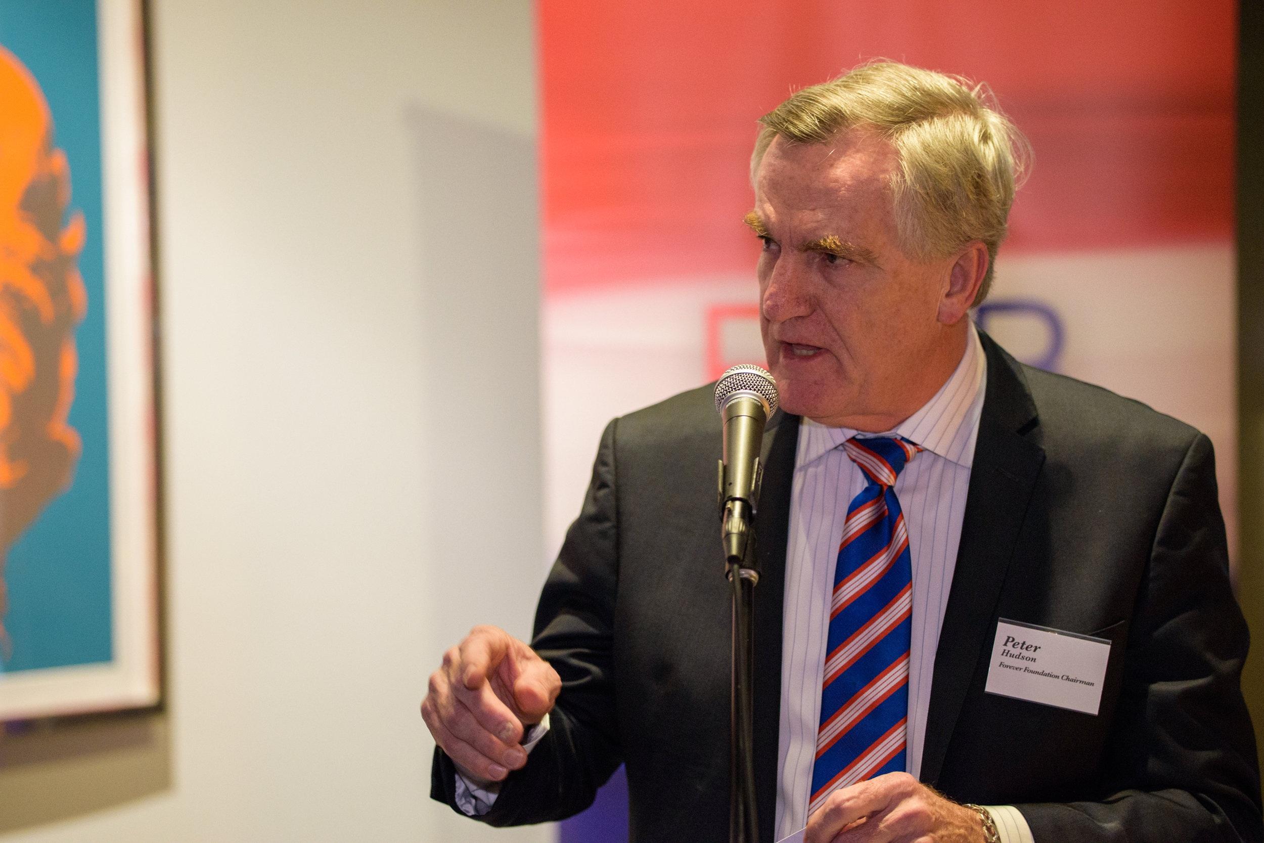 Forever Foundation Chairman, Mr Peter Hudson