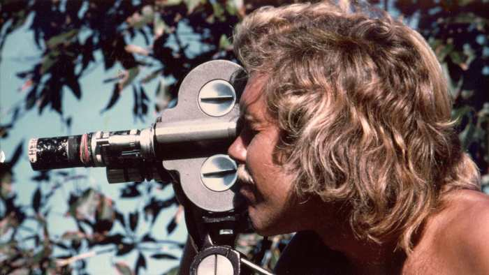 Bill Heick, filming in Indonesia, late 1970s.