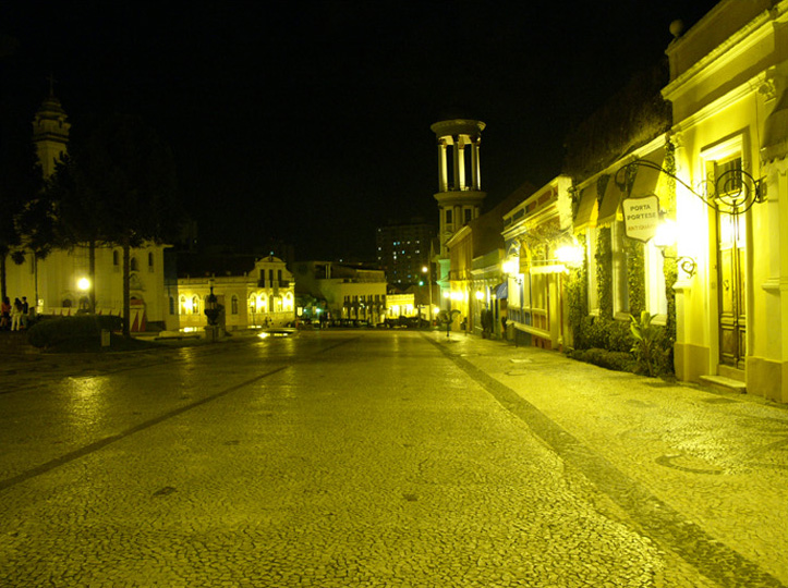 Restored historic district in Curitiba