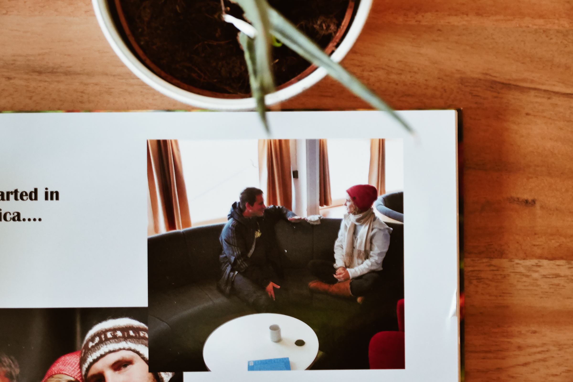 Us meeting on an expedition ship in Antarctica. Can't believe we have a photo of it.