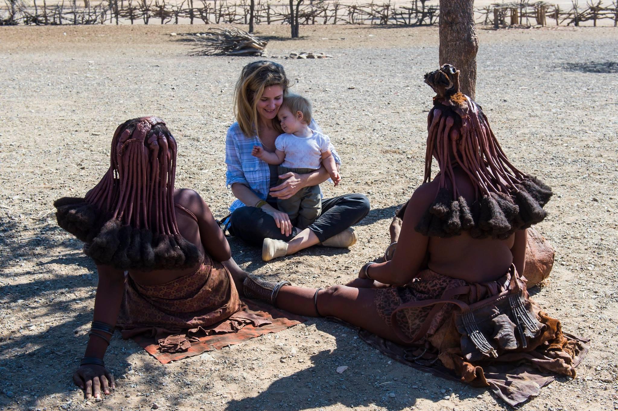With women of the Himba tribe in northern Namibia.