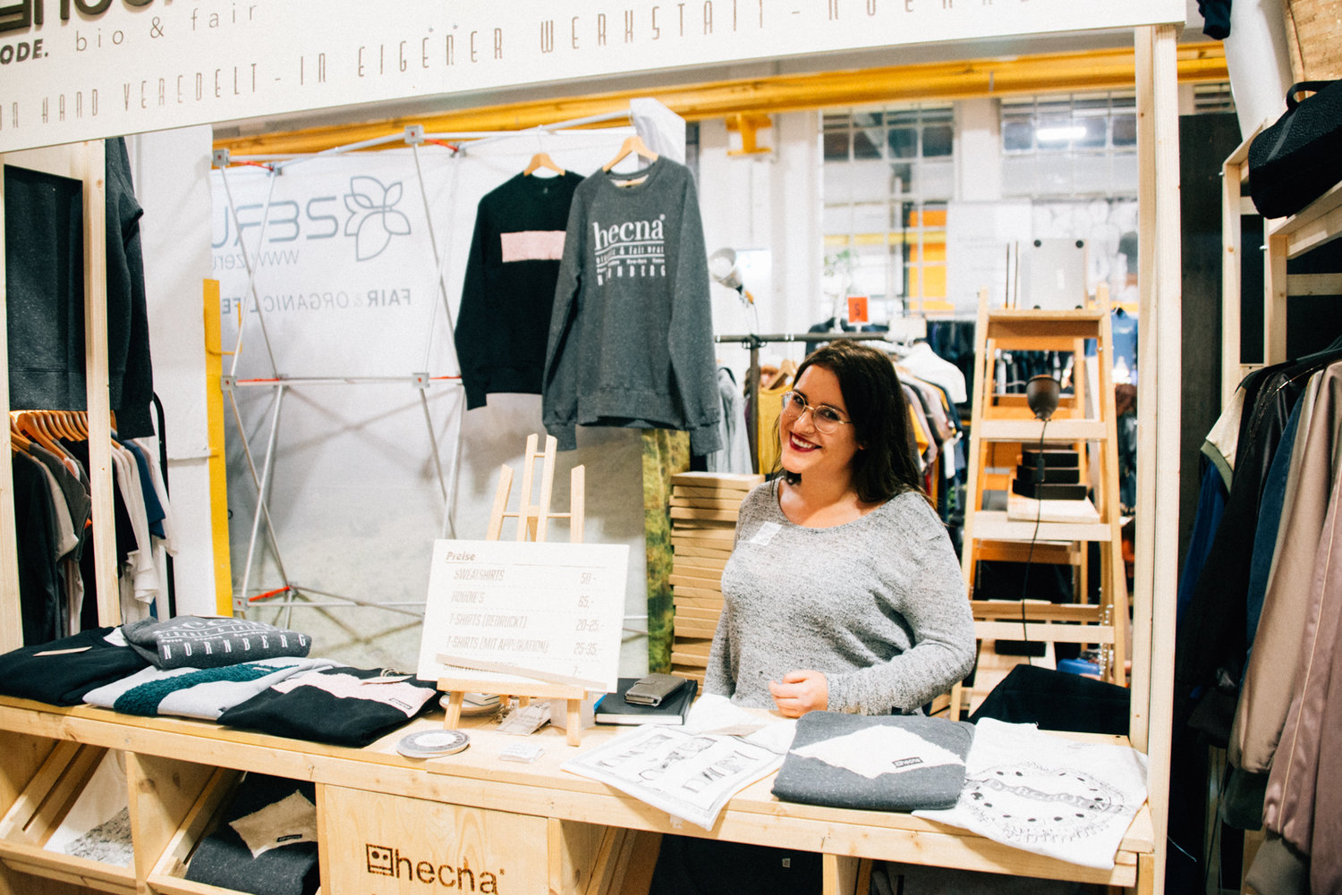 Hecna  fair trade & vegan clothing line, Nürnberg