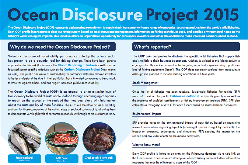 ocean disclosure project -