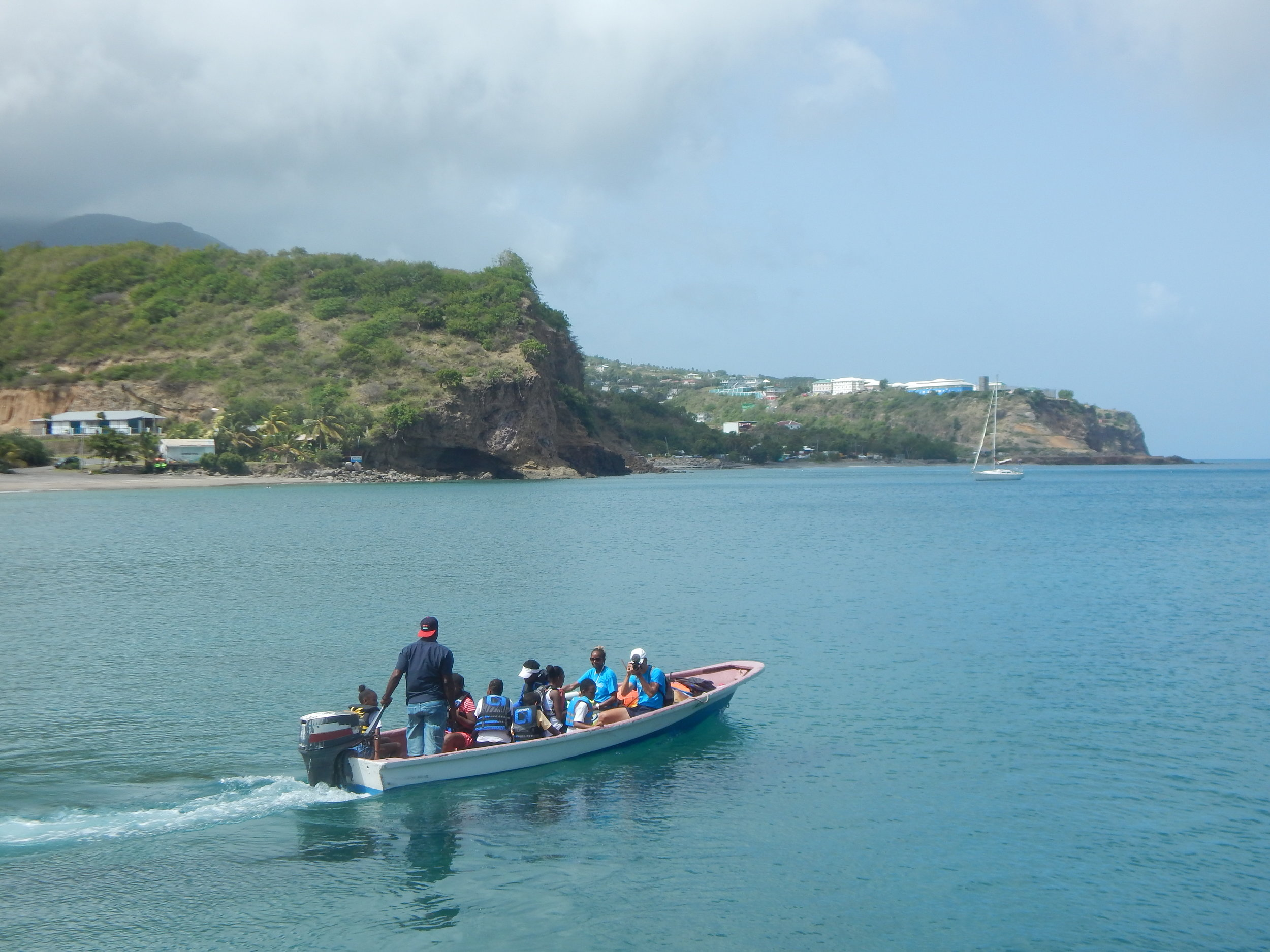 Setting off on a journey to a hidden beach