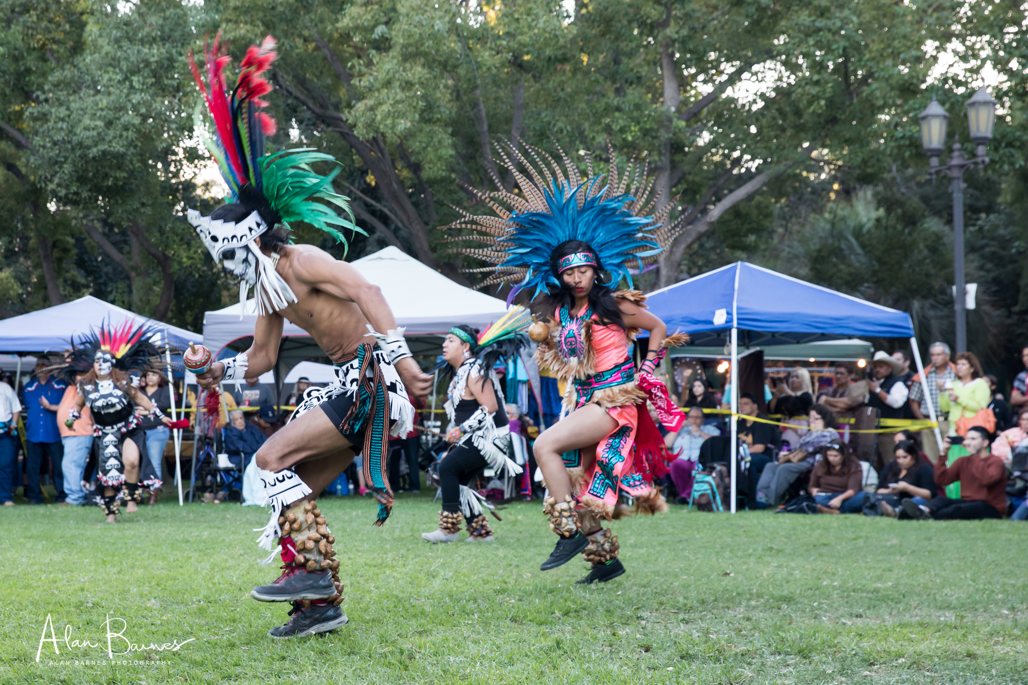 At the 2nd Pow Wow I attended, the dancing was more energetic and ritualistic.