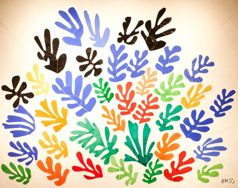 La Gerbe , Henri Matisse, 1953, 2.94m x3.5m, Gouache and Paper. Shot by Thomas Hawk.