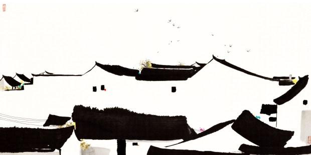 吴冠中 Wu Guanzhong: 大宅Big House (2007)