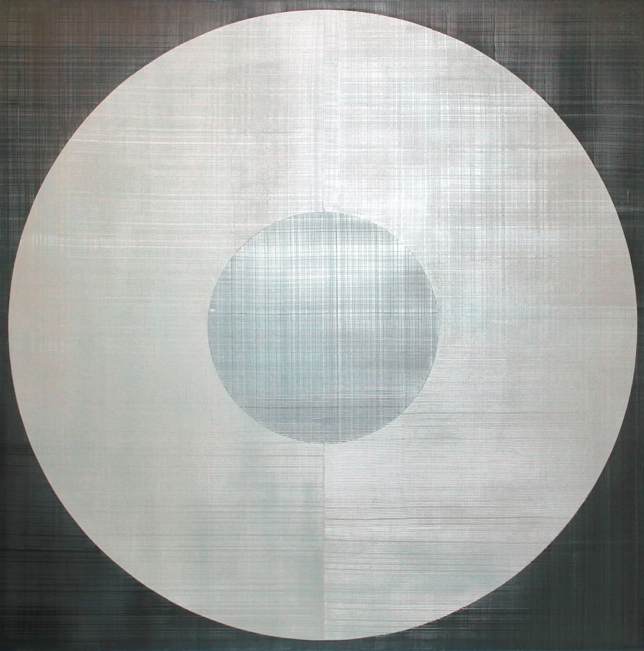 White Circle Over Silver