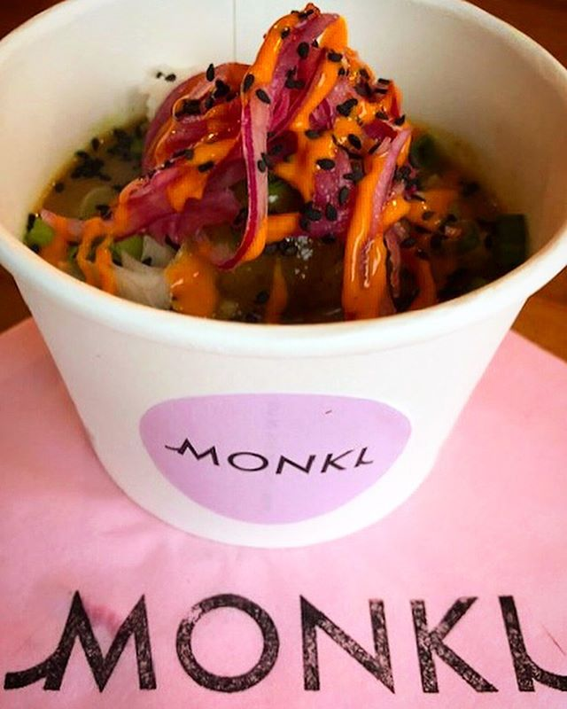 Awesome couple of days last week working with @monki in Sheffield promoting their new store opening 🎀🎊 The weather was HORRENDOUS but it certainly didn't put the students off snapping up their Katsu Tofu giveaway pots 😜 Thank you @jessleyton and @iprlondon for organising everything your we're all amazing! 💕