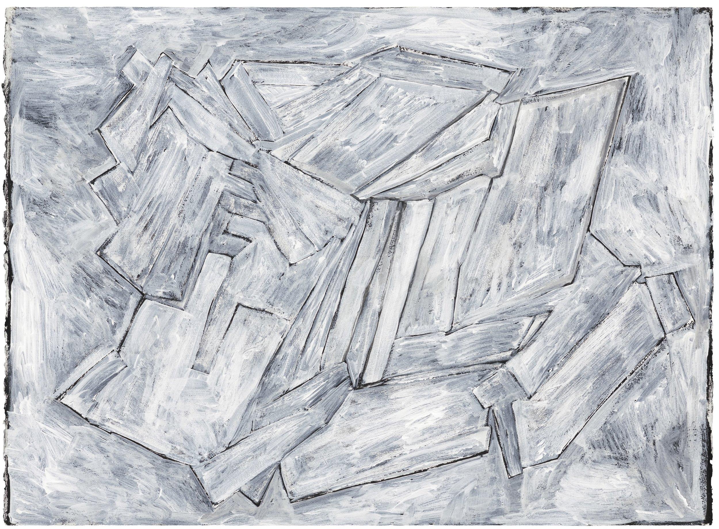 Lot 6: Phyllida Barlow - Untitled white 'black'
