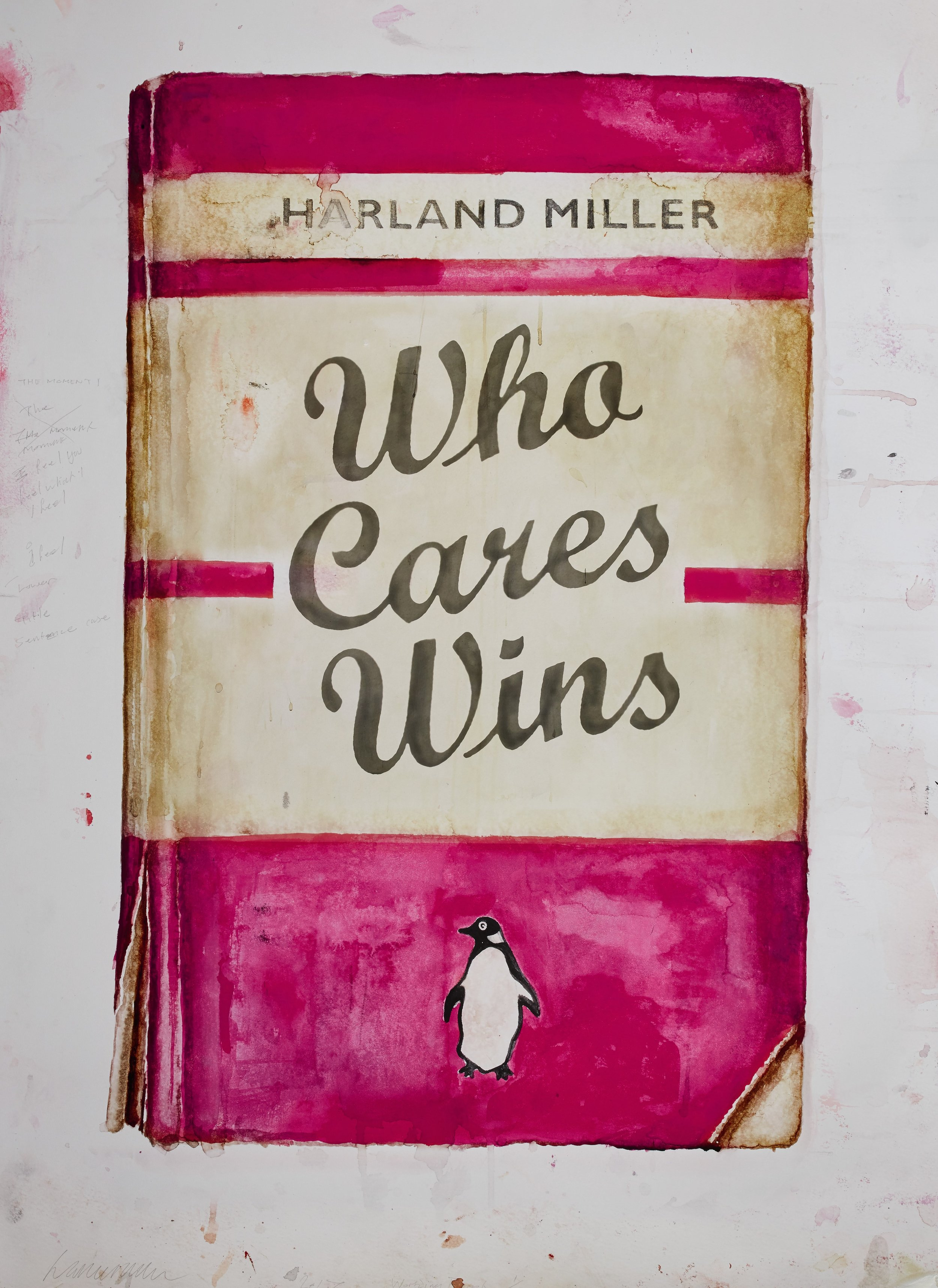 Lot 14: Harland Miller - Who Cares Wins