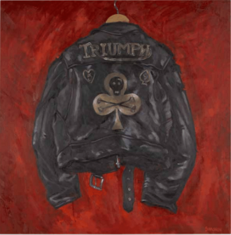 Lot 30: Paul Simonon - Black Skull, White Club - Triumph