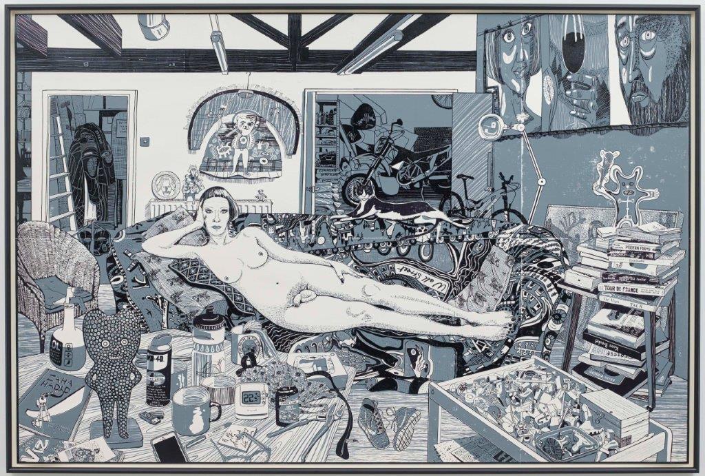 Grayson Perry RA,  Recyling Artist , Woodcut Courtesy Paragon Press