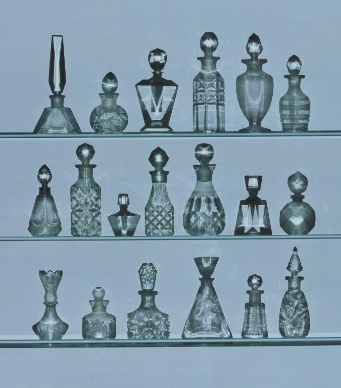 Rob & Nick Carter,  Perfume Bottles Photogram , Cibachrome, 2017 Courtesy Gordon Cooke Fine Art