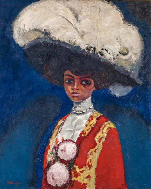 KEES VAN DONGEN (1877 – 1968)  Plumes Blanches  (1911) Oil on canvas, 100 x 80 cm