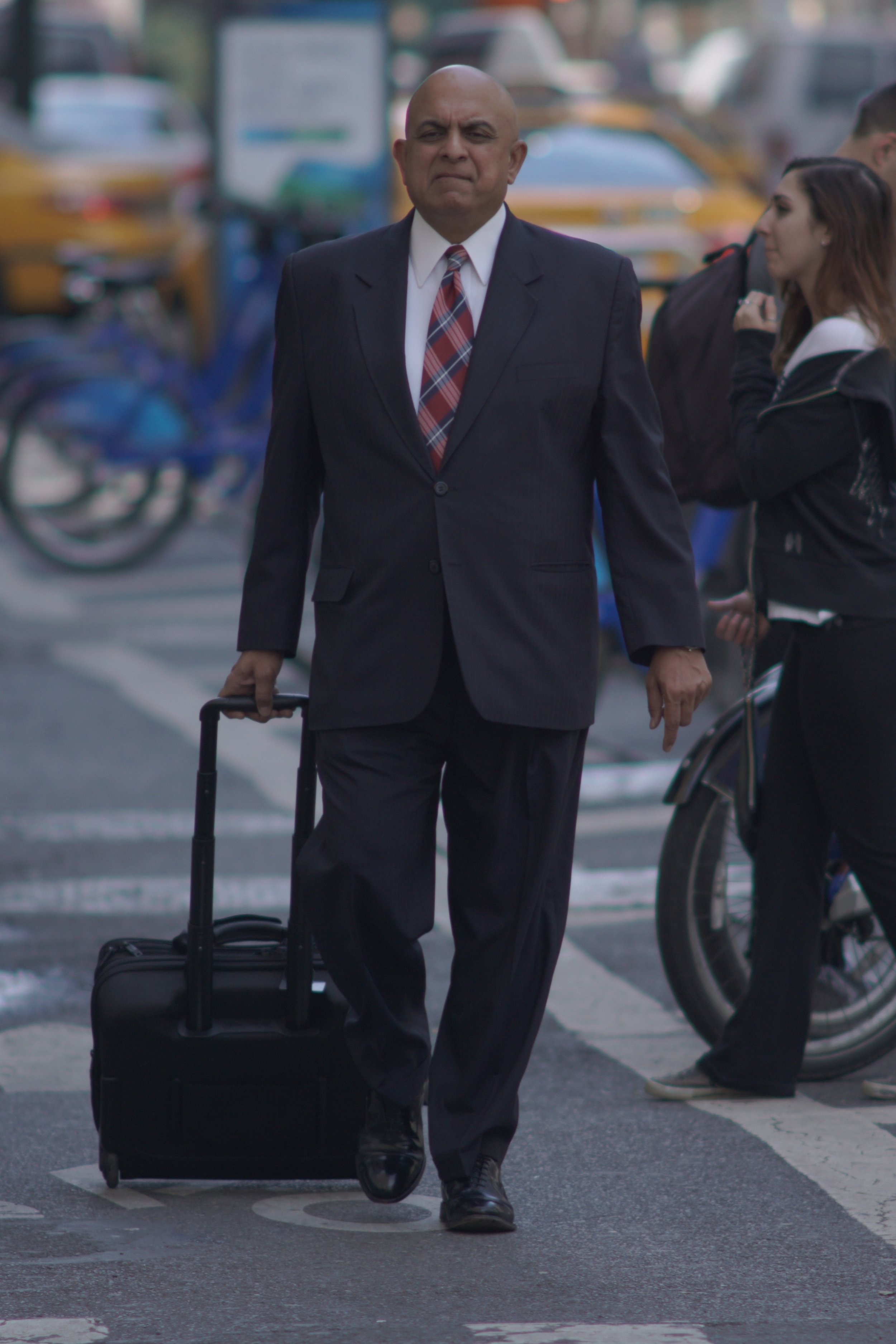Street Photography with A Telephoto Lens, man in suit