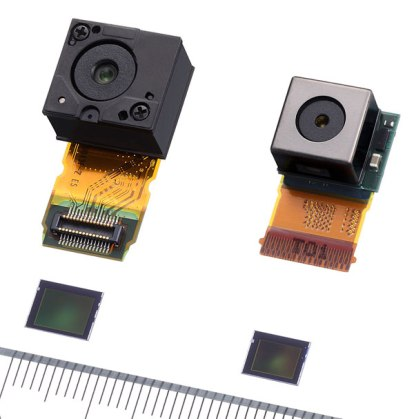 Phone with optical zoom, Example of cell phoen sensor size reduction Cameraplex