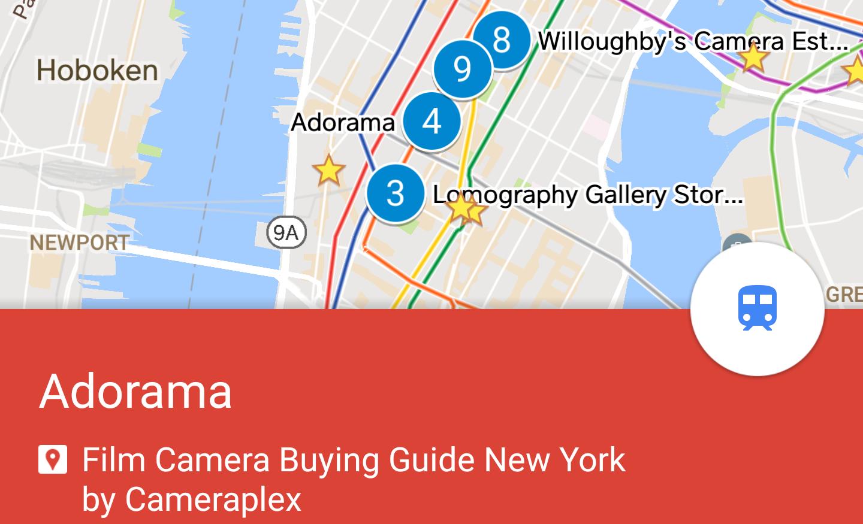 Film Camera Buying Guide Map