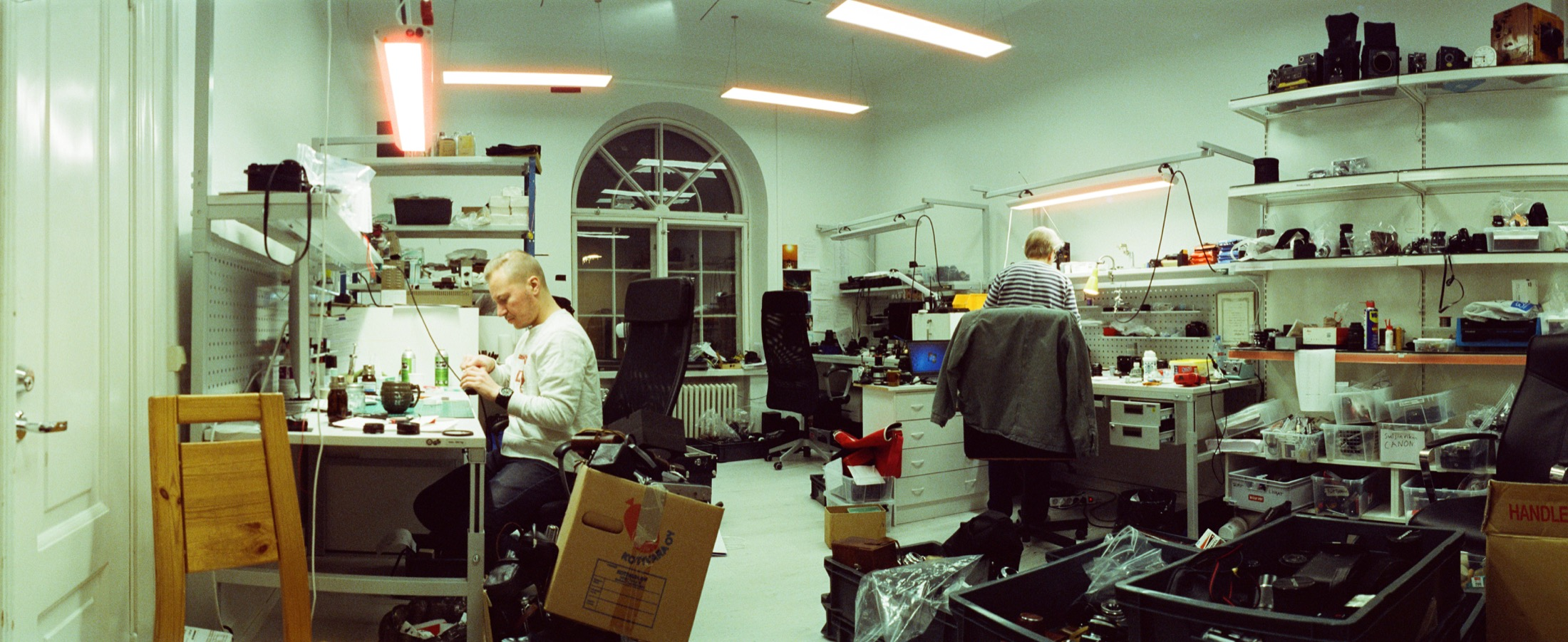 Cameramakers team inside the Camera Rescue Center in Finland.