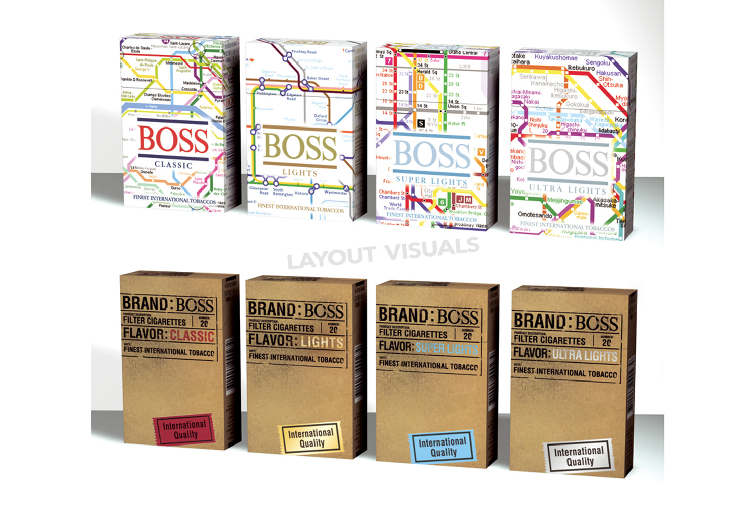 BOSS CIGARETTES – Special Editions. / BOSS ZIGARETTEN – Special Editions.