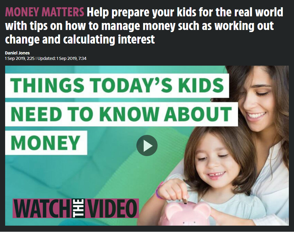 KickStart and MyBnk's financial literacy quiz for The Sun - September 2019, Print