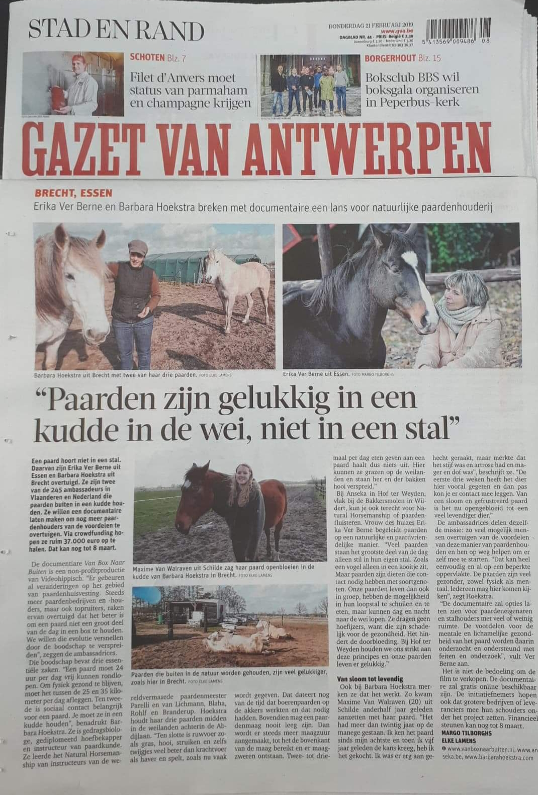 FRHP in de gazet