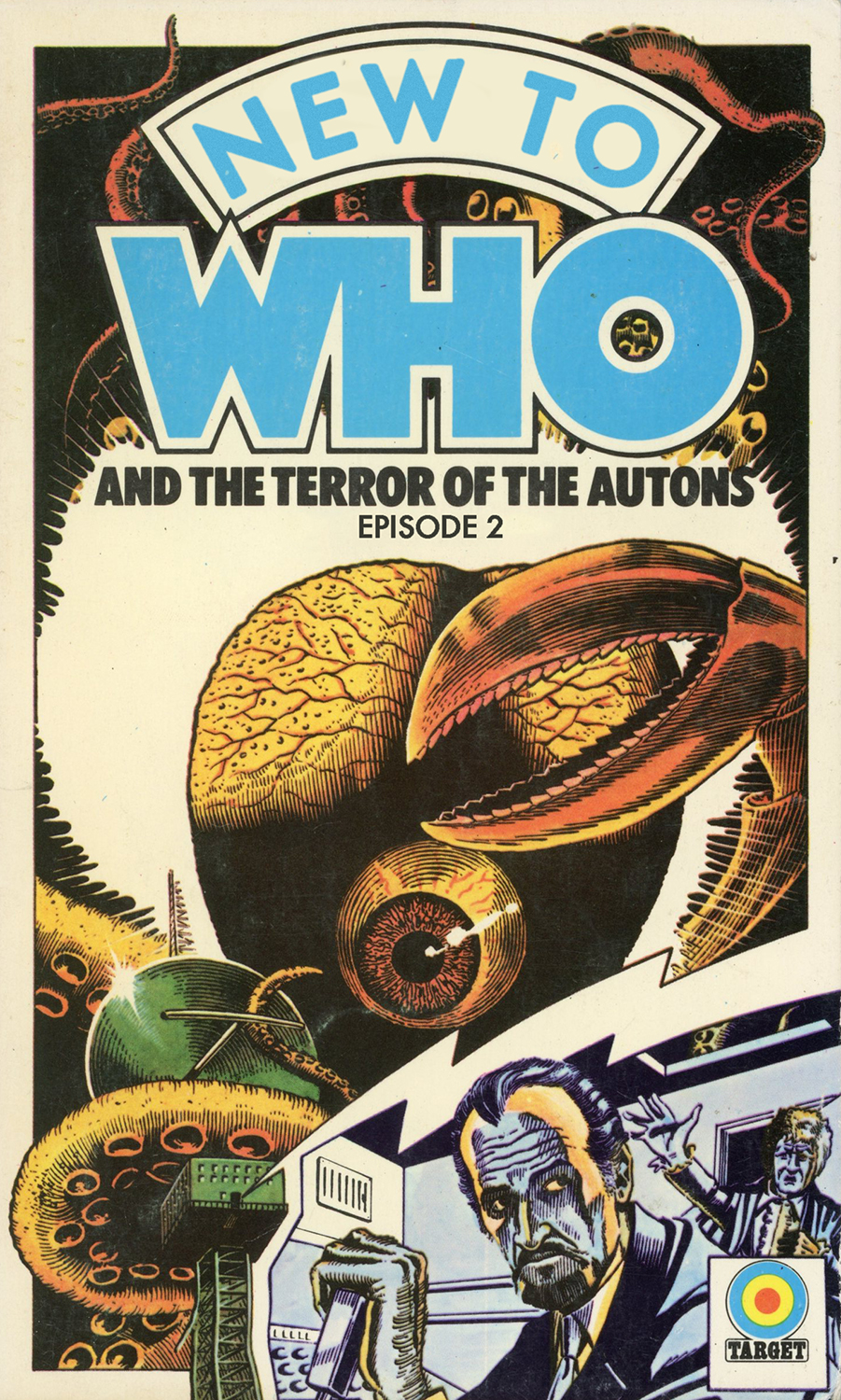 Original cover art for the 1975 Target novelisation by Peter Brookes