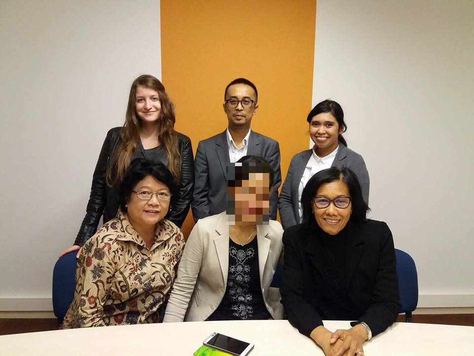 Members of the Welkom Project with a client and representatives from the Indonesian embassy.