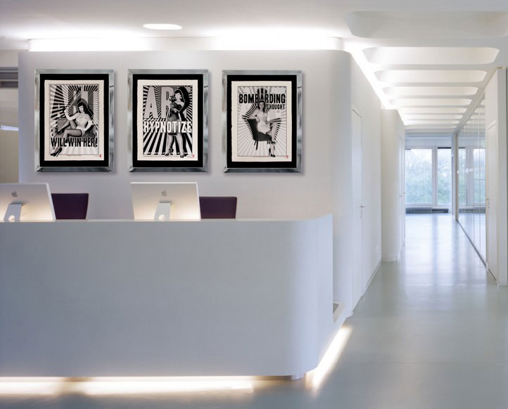 Mr Von Hugo greets clients in this agency in London