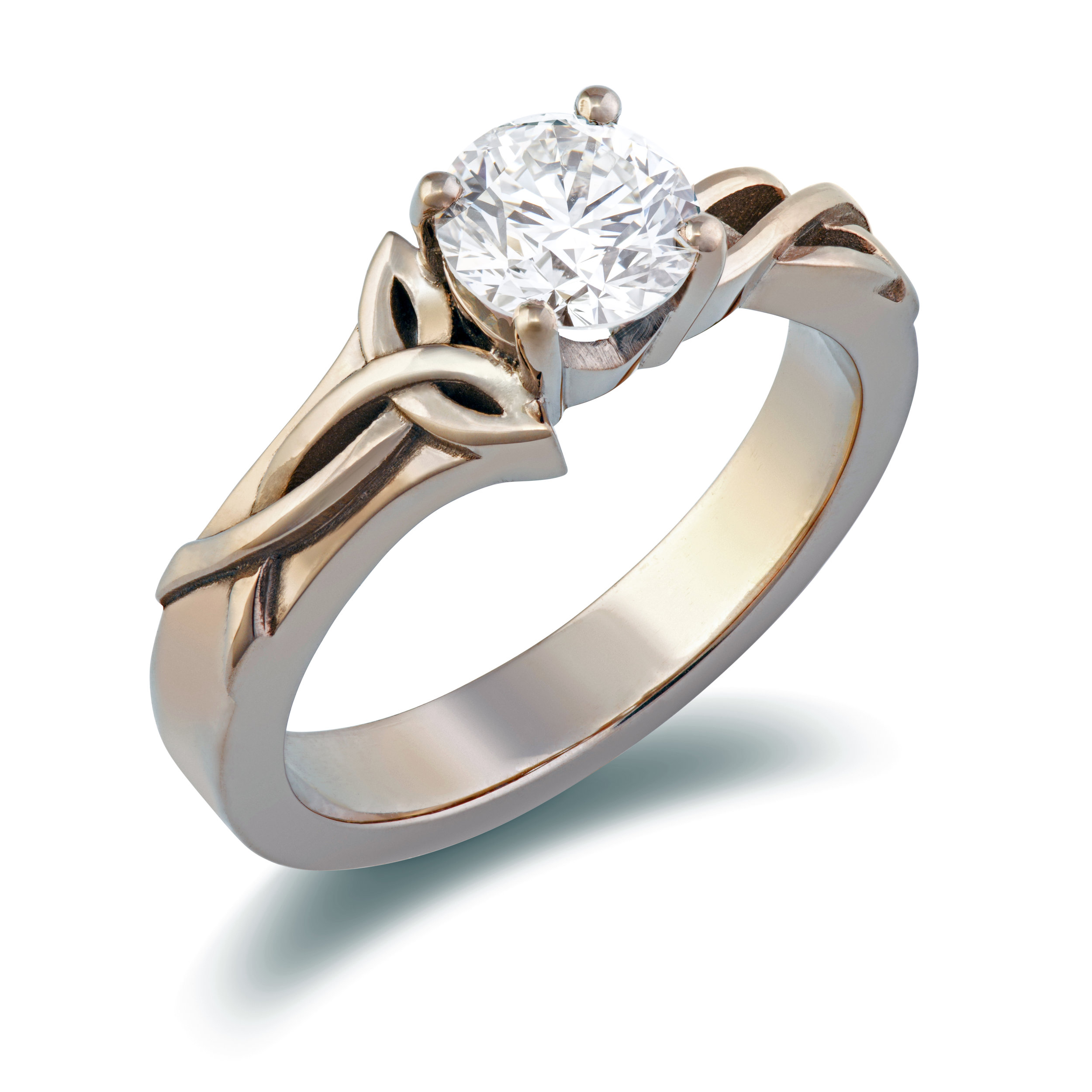 Bespoke 18ct white gold and diamond dress ring commission
