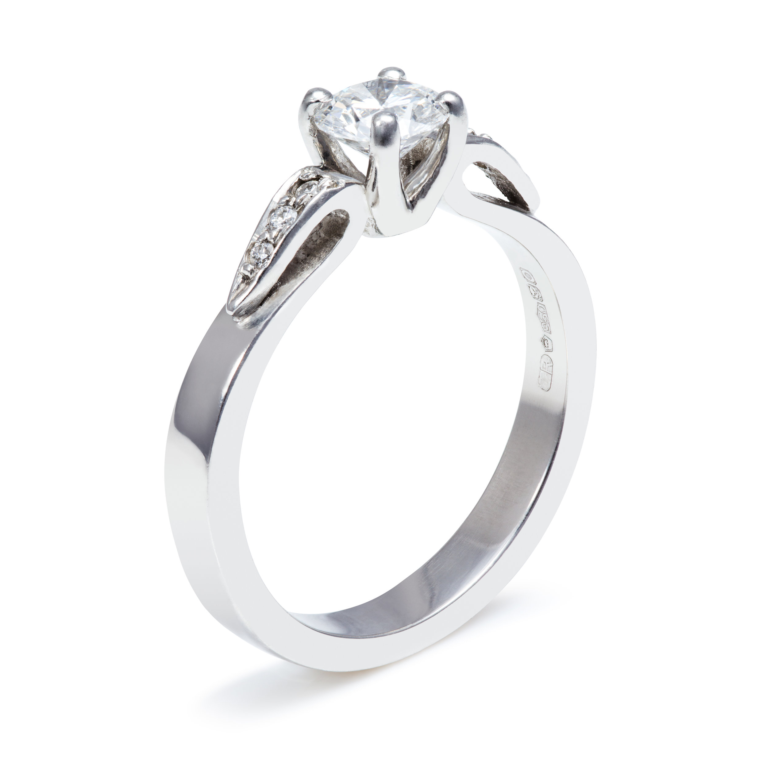 Bespoke platinum and diamond engagement ring commission