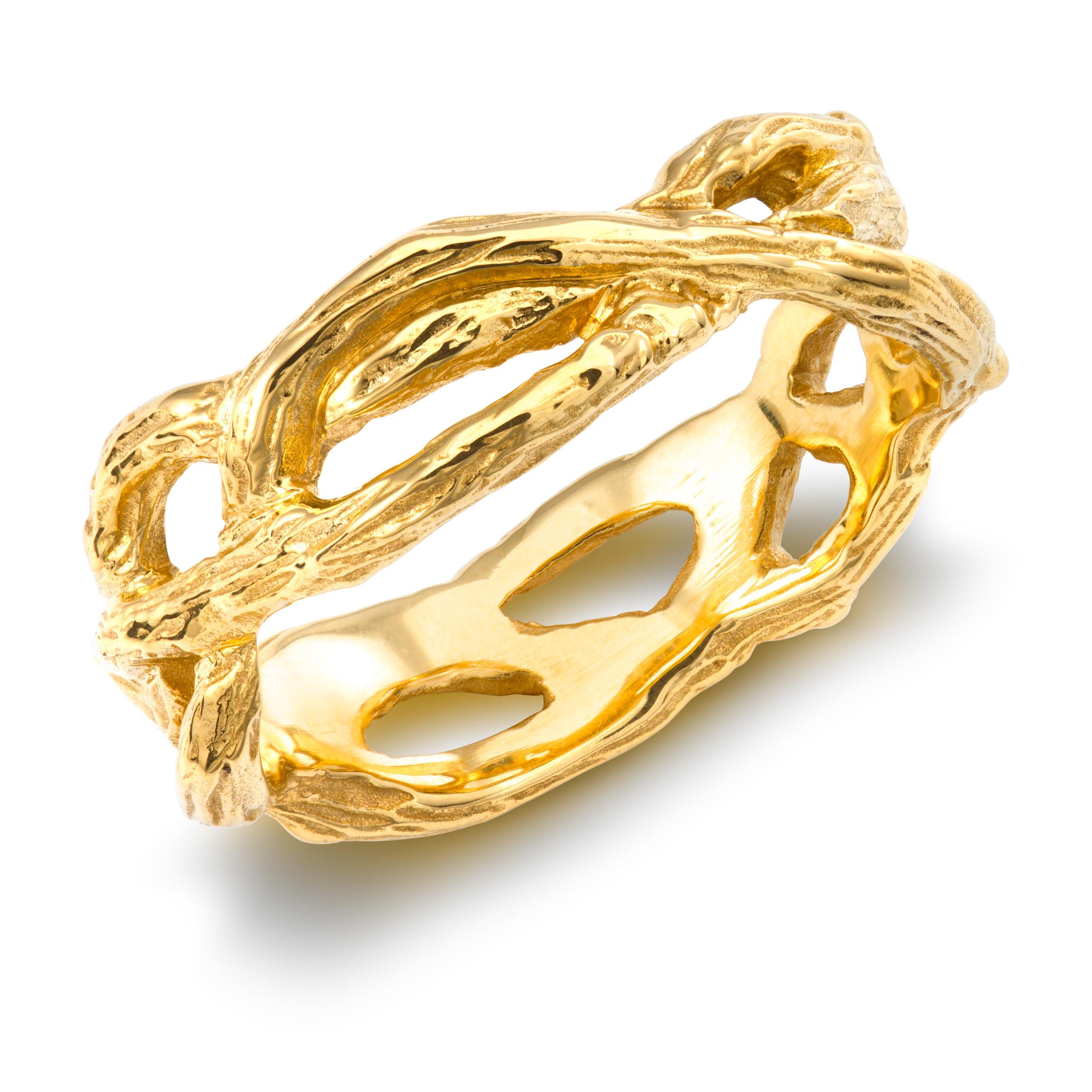 Bespoke 18ct yellow gold wedding ring commission