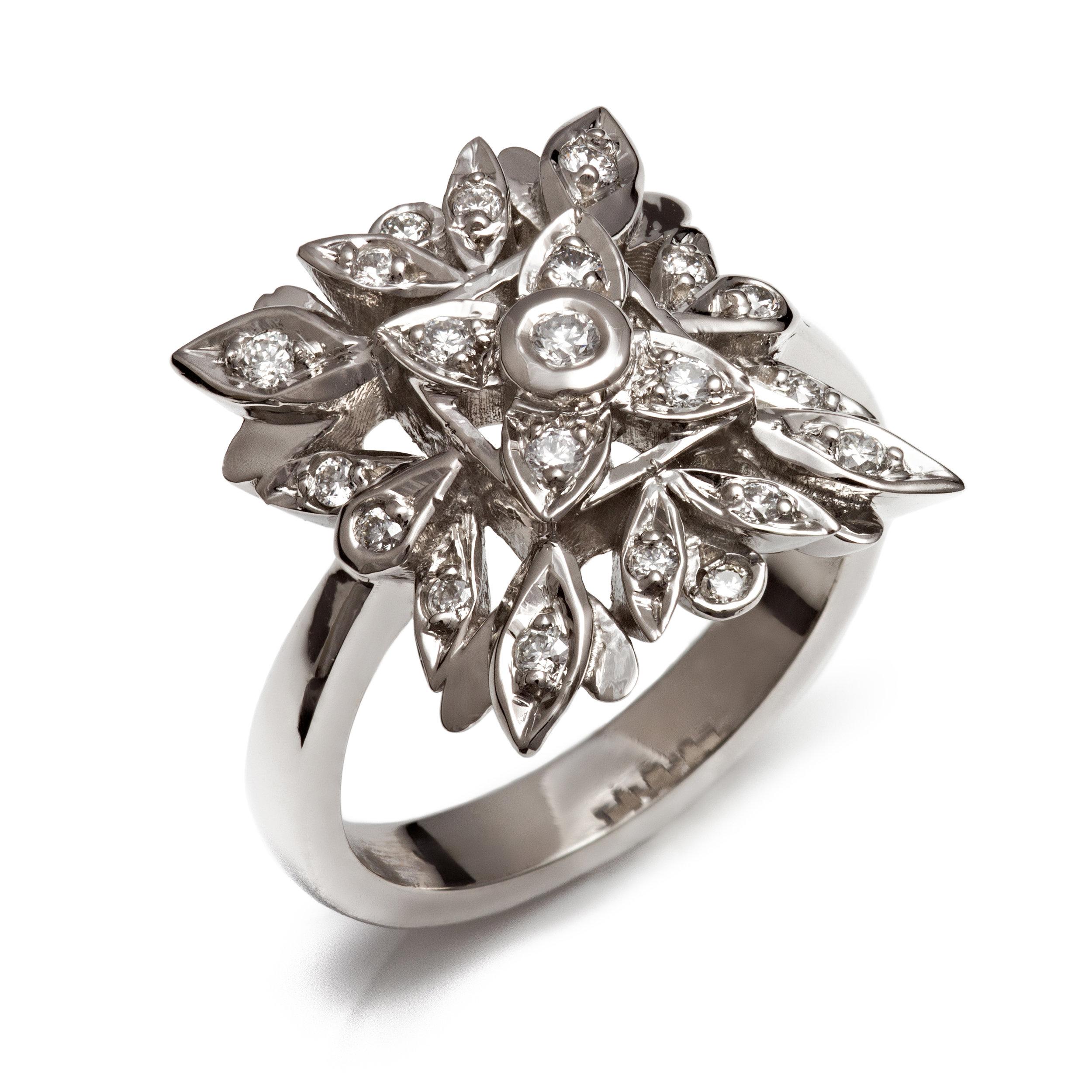 Bespoke palladium and diamond ring commission