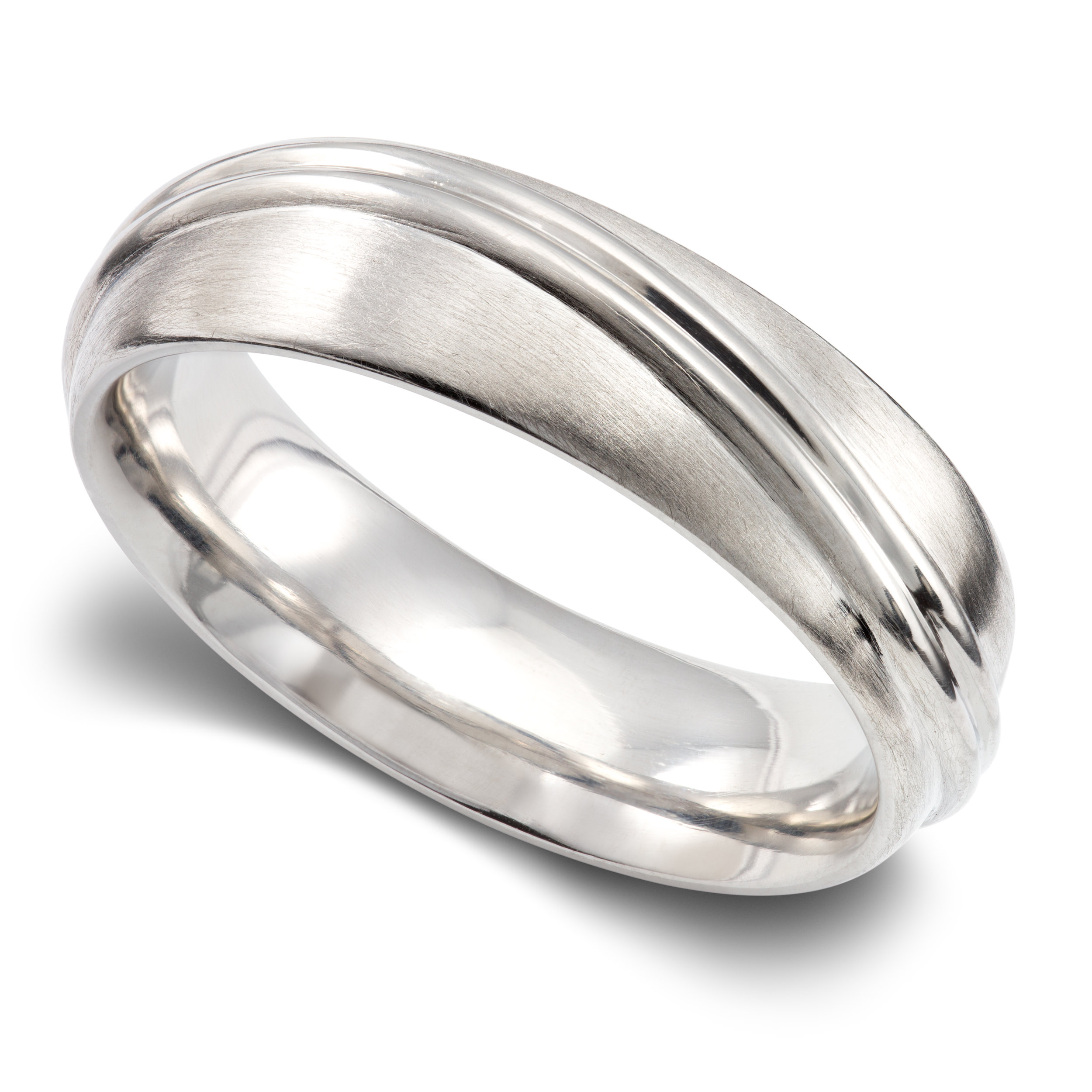 Platinum gents wedding ring - £2,349