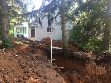 New septic going in before closing.