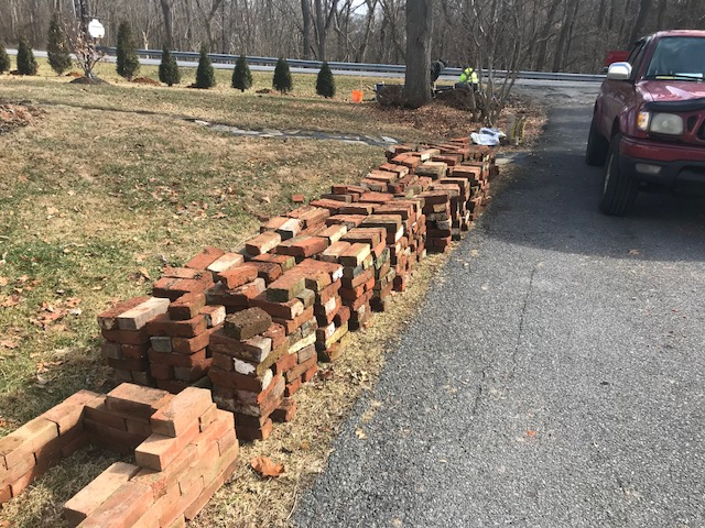 Antique brick picked from an online ad.