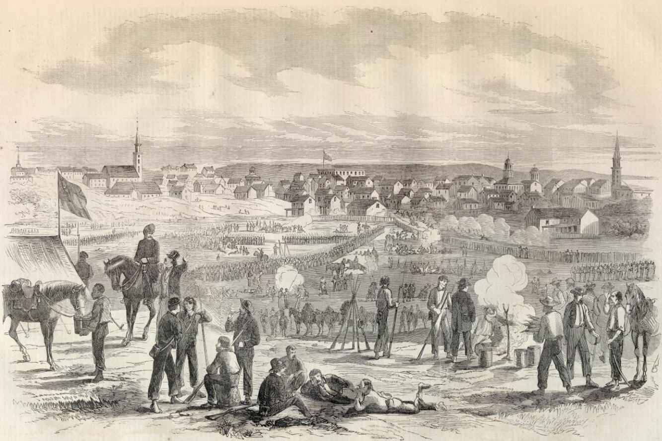 """Lee camps at Hagerstown, MD 9/11/1862 the evening of """"the Cool Hollow incident"""""""