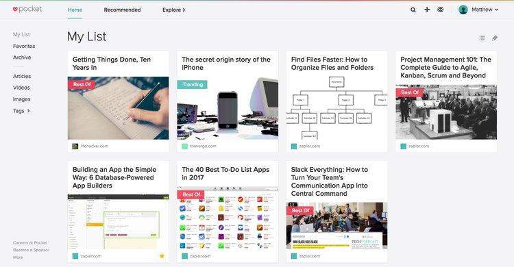 Guarda tus piezas de contenido de tu Startup para más tarde con Pocket
