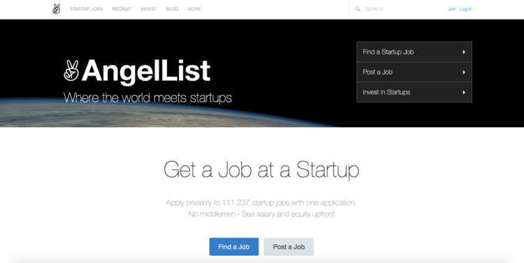 Contrata al mejor equipo para tu Startup con AngelList