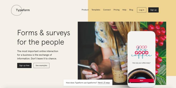 Crea encuestas profesionales para tu Startup diseñadas con TypeForm