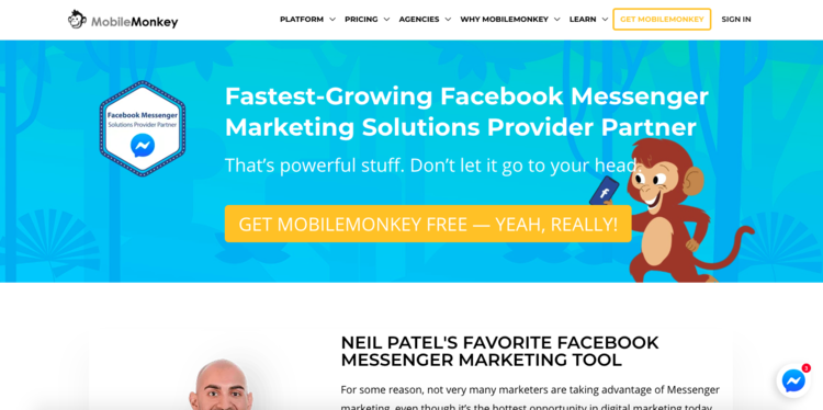 Habla con tu audiencia de tu Startup de Facebook con MobileMonkey
