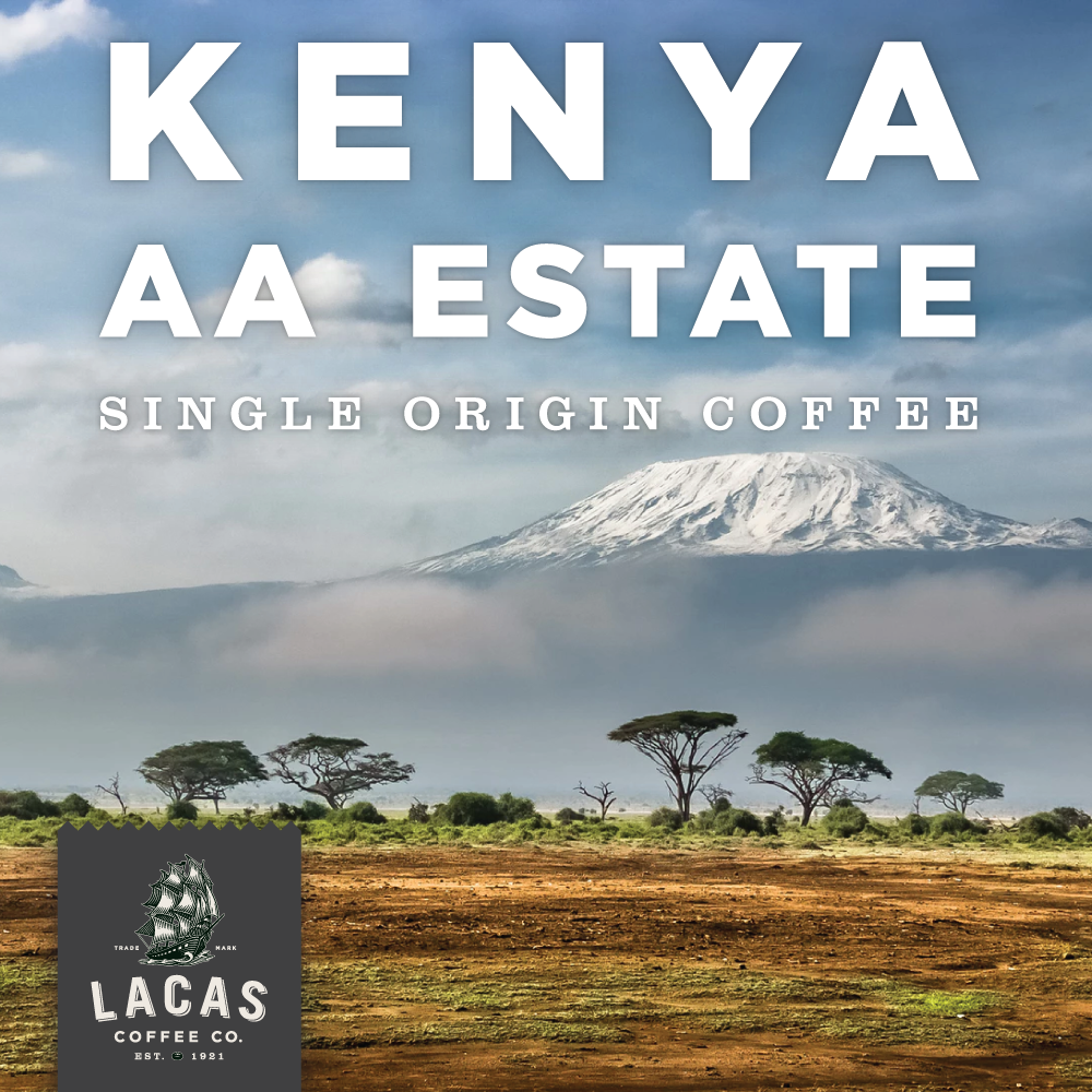 Kenya AA Estate  - offers lively, bold, bright berry notes with hints of stone fruit