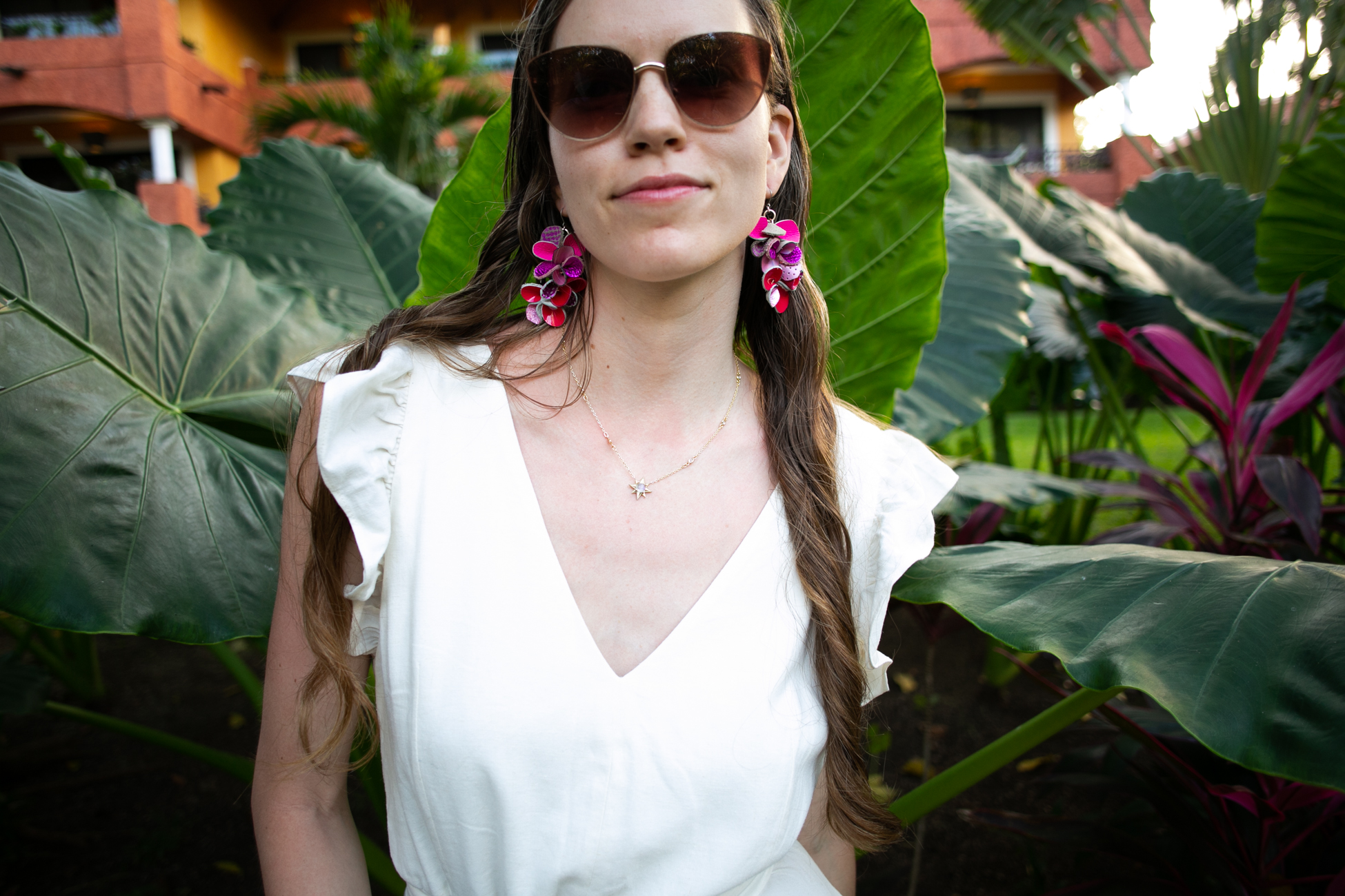 Blending in among the megafauna. Earrings by  Mekunia  and Necklace by  Emily Kiefer.