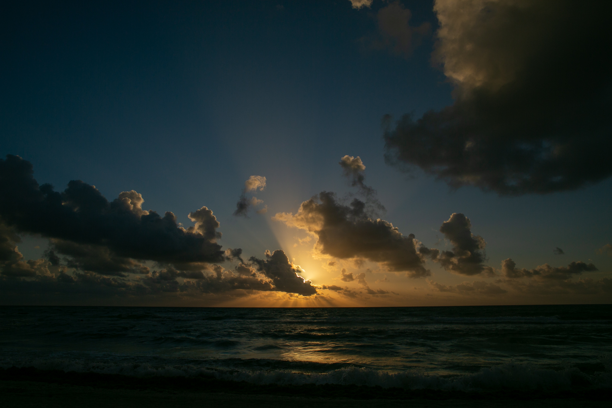Sunrise on the beach.
