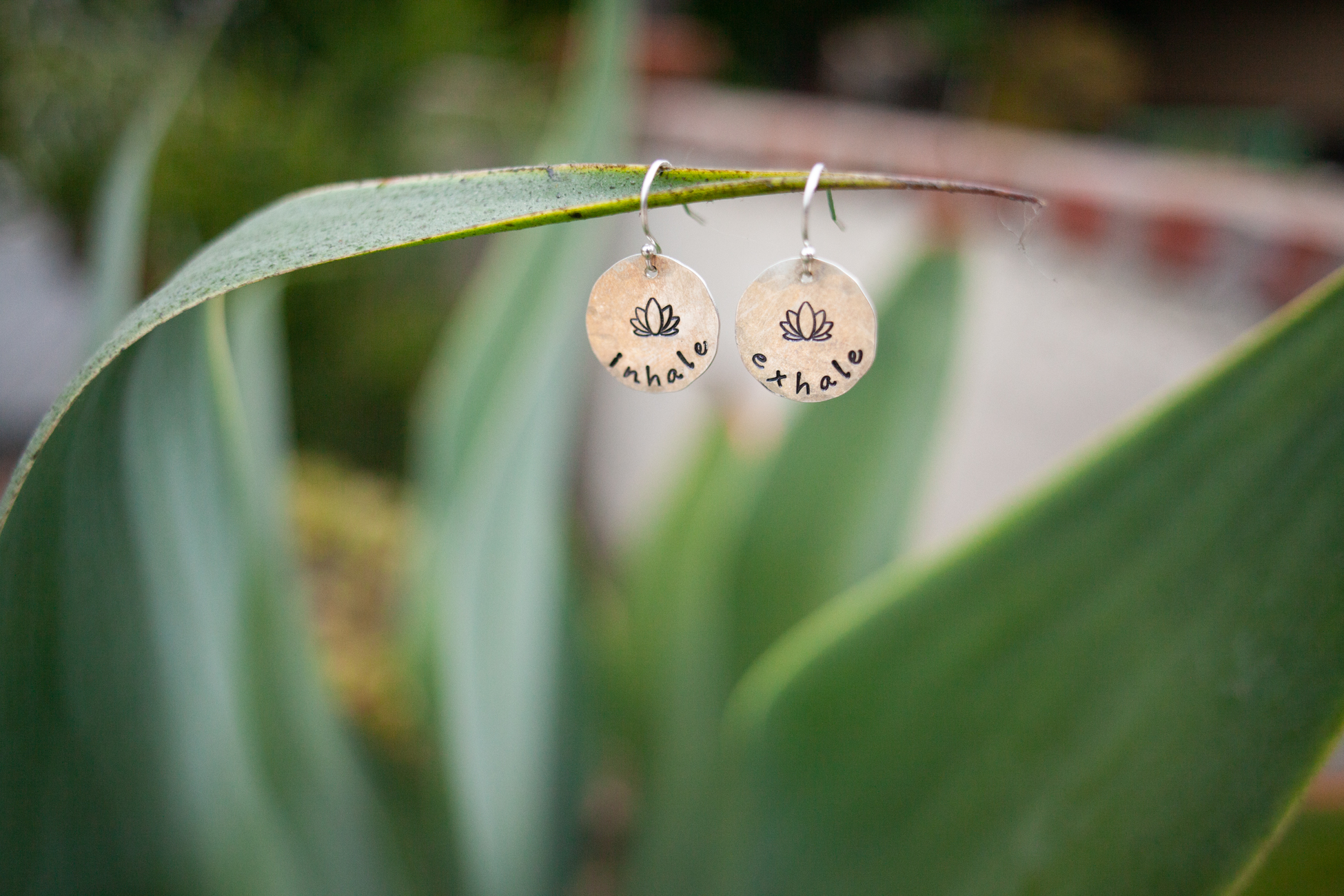 Fig 7. Back to the land, staging earrings by  Tracy Tayan Designs  on a friendly agave plant near the beach.